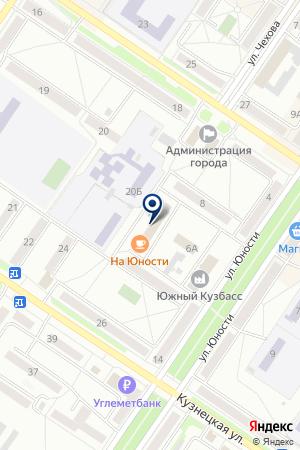 АВТОСАЛОН ВАЛЕГОР на карте Междуреченска
