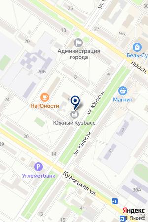 КОММЕРЧЕСКИЙ БАНК УГЛЕМЕТБАНК на карте Междуреченска