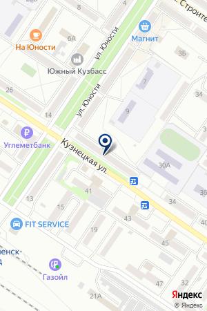 ОХРАНА ЧАСТНАЯ ПЕТРОВ В.В. на карте Междуреченска