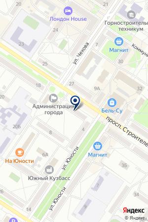 МУП АПТЕКА 139 на карте Междуреченска