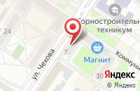 Схема проезда до компании МОНТАЖНАЯ ФИРМА БФК-МЕЖДУРЕЧЕНСК в Междуреченске