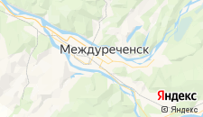 Гостиницы города Междуреченск на карте