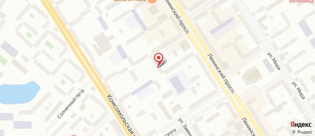 Карта расположения пункта доставки Норильск Ленинский в городе Норильск