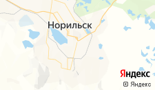 Гостиницы города Норильск на карте