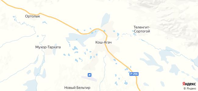 Гостиницы Кош-Агач - объекты на карте