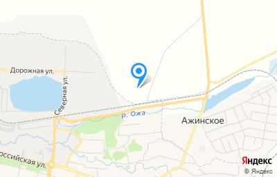 Местоположение на карте пункта техосмотра по адресу Красноярский край, Шарыповский р-н, с Ажинское, тер Промбаза Ашпыл, д 1