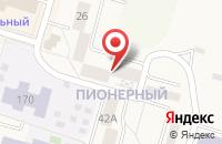 Схема проезда до компании Енисей-Сервис в Шарыпово