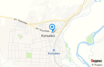Местоположение на карте пункта техосмотра по адресу Респ Хакасия, п Копьево, ул Транспортная, д 10