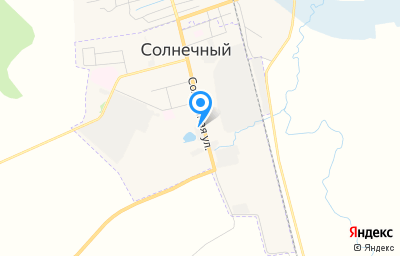 Местоположение на карте пункта техосмотра по адресу Красноярский край, п Солнечный, ул Солнечная, д 18