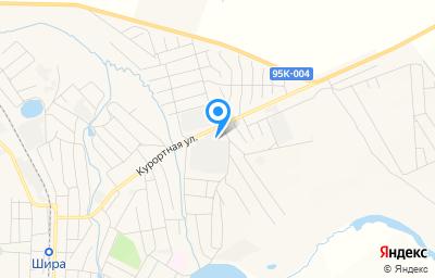 Местоположение на карте пункта техосмотра по адресу Респ Хакасия, с Шира, ул Курортная, д 50