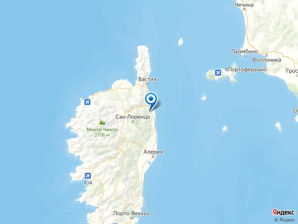 Кастелларе-ди-Казинка на карте
