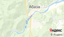 Гостиницы города Абаза на карте