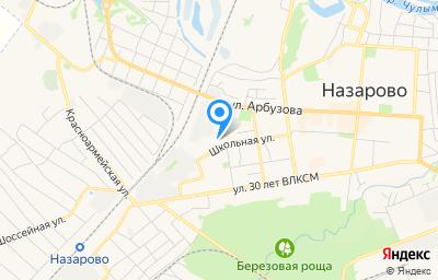 Местоположение на карте пункта техосмотра по адресу Красноярский край, г Назарово, ул Школьная, д 5А стр 2