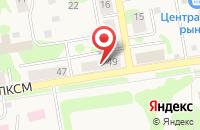 Схема проезда до компании Автошанс в Назарово