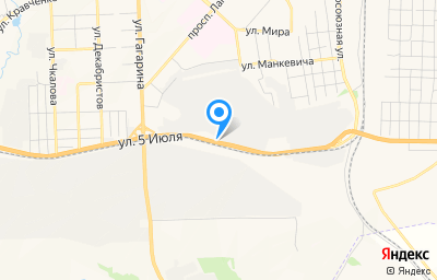 Местоположение на карте пункта техосмотра по адресу Красноярский край, г Ачинск, ул 5 Июля, д 5