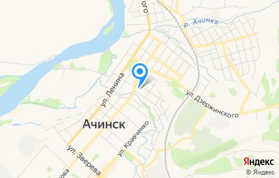 Местоположение на карте пункта техосмотра по адресу Красноярский край, г Ачинск, ул Красного Пожарника, д 1 к 2, пом 3