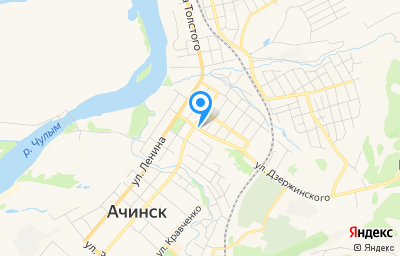 Местоположение на карте пункта техосмотра по адресу Красноярский край, г Ачинск, ул Крупской, стр 28