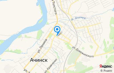 Местоположение на карте пункта техосмотра по адресу Красноярский край, г Ачинск, ул Крупской, д 28