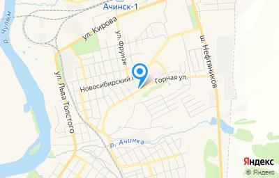 Местоположение на карте пункта техосмотра по адресу Красноярский край, г Ачинск, ул Горная, д 73Г