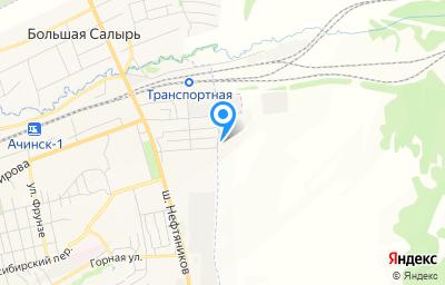 Местоположение на карте пункта техосмотра по адресу Красноярский край, г Ачинск, ул Тарутинская, д 53