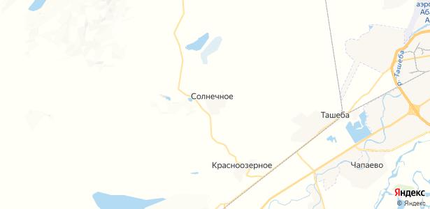 Солнечное на карте