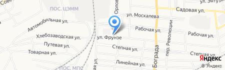 Магазин продуктов на ул. Фрунзе на карте Черногорска