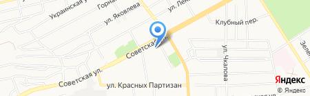 Финтерра на карте Черногорска
