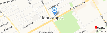 За рулем на карте Черногорска