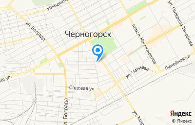 Местоположение на карте пункта техосмотра по адресу Респ Хакасия, г Черногорск, ул Мира, д 19А