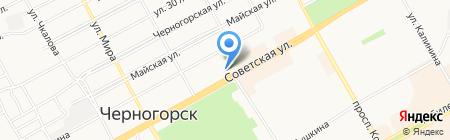 Абакан-Черногорск на карте Черногорска