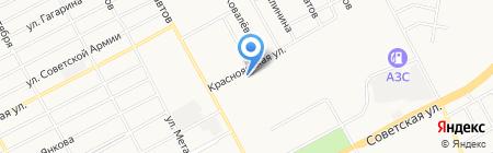 Магазин продуктов на Красноярской на карте Черногорска