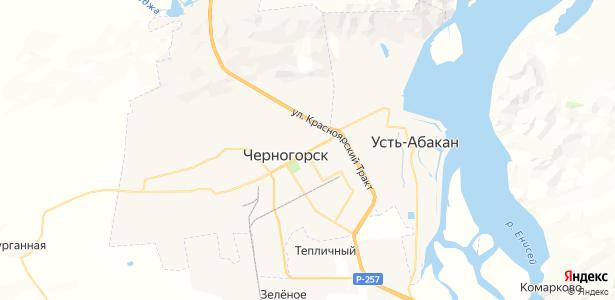 Черногорск на карте