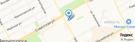 Магазин нижнего белья на карте Черногорска