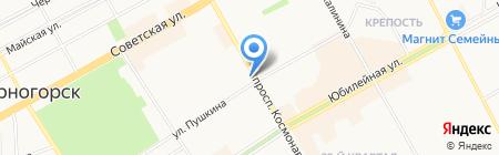 Киоск по продаже хлебобулочных изделий на карте Черногорска