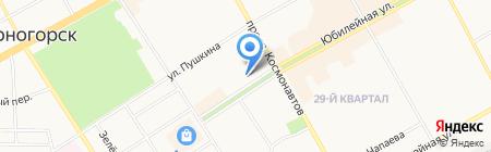 Пусан на карте Черногорска