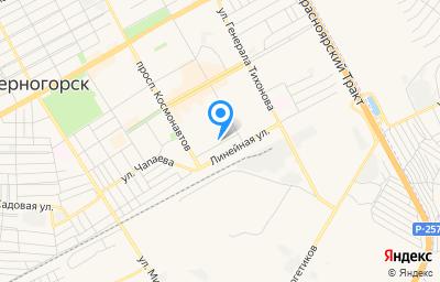 Местоположение на карте пункта техосмотра по адресу Респ Хакасия, г Черногорск, ул Чапаева, д 49Б