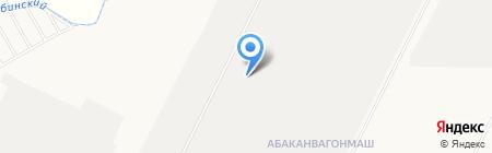 Тяжелая Спецтехника Хакасии на карте Абакана