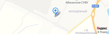 Тепсей на карте Абакана