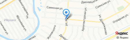 Продуктовый магазин на Центральной на карте Абакана