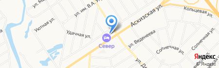 АЗС Север на карте Абакана