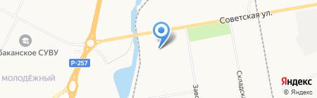 Абакан-Бетон на карте Абакана