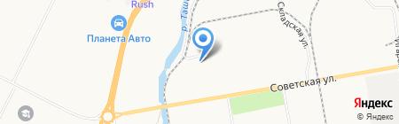 Автошина на карте Абакана