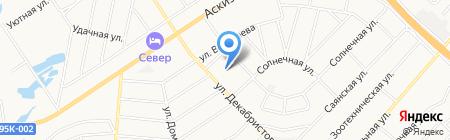 Вектор на карте Абакана