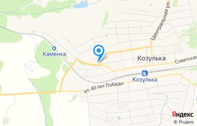Местоположение на карте пункта техосмотра по адресу Красноярский край, пгт Козулька, ул Пролетарская, д 147