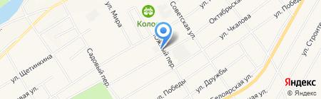 Белоярский РЭС на карте Белого Яра