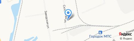 Абаканская цементная база на карте Абакана