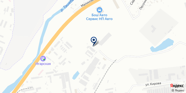Каскад на карте Абакане