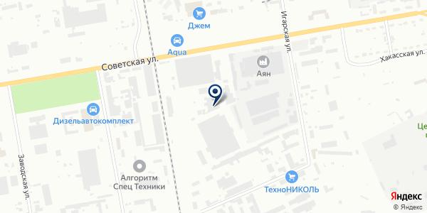 РАТИ-Снаб-Экспресс на карте Абакане