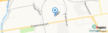 Евросауна на проспекте Ленина на карте Абакана