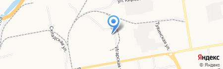 Магазин пиломатериалов на Игарской на карте Абакана